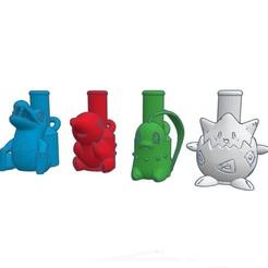 Télécharger STL Cachimba / Shisha Initiales de l'embout Johto Pokemon, Shisha3D
