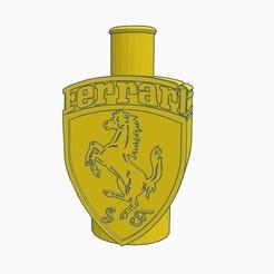 Sin título.jpg Download STL file Cachimba Mouthpiece / Shisha Logo Ferrari • 3D print template, Shisha3D