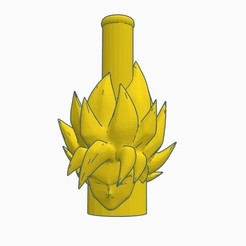 Download 3D print files Cachimba / Sisha Goku Super Saiyan Mouthpiece, Shisha3D
