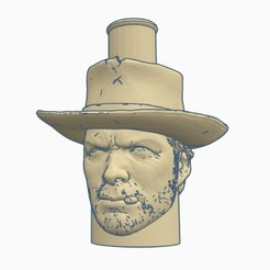 Sin título.jpg Download STL file Cachimba / Shisha Clean Eastwood Cowboy Mouthpiece • Template to 3D print, Shisha3D