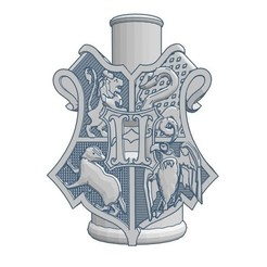 Download 3D printing models Cachimba / Shisha Mouthpiece Hogwarts Shield, Shisha3D