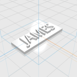 JAMES.png Download STL file JAMES letters • 3D printer template, 3D_Names