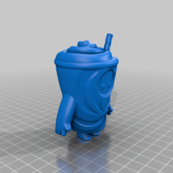 FallGuy_Slurpie.png Download free STL file Fall Guys Slurpie • 3D printer template, TroySlatton
