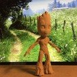Download free STL file articulated and static groot • 3D printer object, pumukiduende