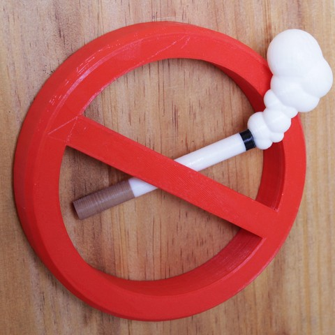3D print model No Smoking 3D Sign, 3DSign