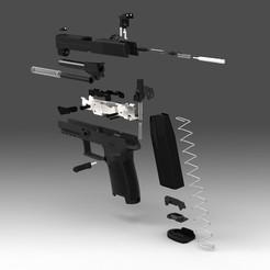 sig p250 v2b.jpg Download STL file SIG p250 model • 3D printable model, charliebalckwater