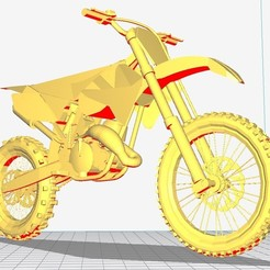 photo honda 1.jpg Download OBJ file motorcycle HONDA CRF • Template to 3D print, ats08
