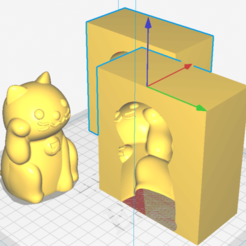 Download 3D printing designs Lucky cat mold (cat), pauloxc54
