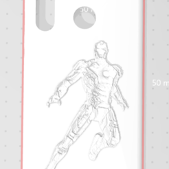 relief2.PNG Download STL file Iron man Huawai P30 lite hulls • 3D printing template, pauloxc54