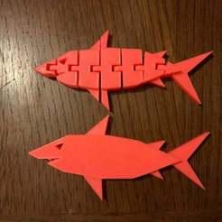 Télécharger fichier impression 3D gratuit Requin / Requin articulé, missionpie