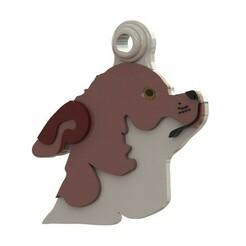 Chihuahua cabeza.JPG Download STL file CHIHUAHUA PET TAG • 3D printable template, Albrey3d