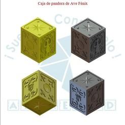 pdf.jpg Download STL file Pandora's box of the knight of the phoenix • 3D printing template, Albrey3d