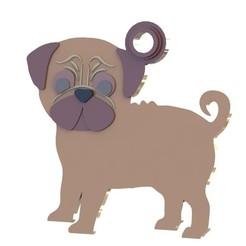 Download STL Pug pet tag, Albrey3d