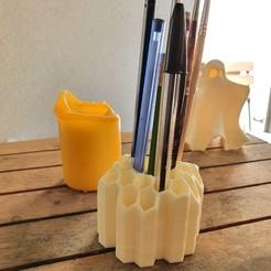 001.jpg Download STL file beehive pen holder • 3D printable template, Naliar