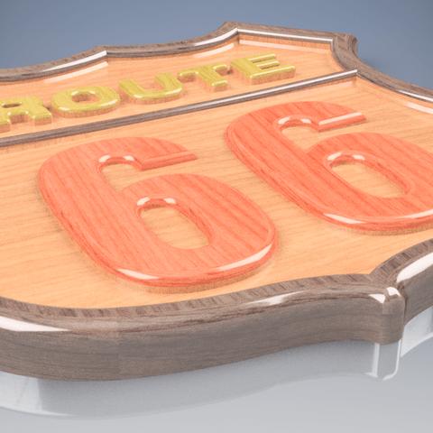 3D printing model Route 66 , Naliar