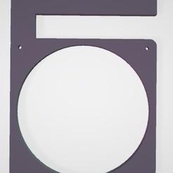 soporte fan 1.jpg Télécharger fichier STL support de ventilateur 120 pour étagère • Objet pour impression 3D, AALMG
