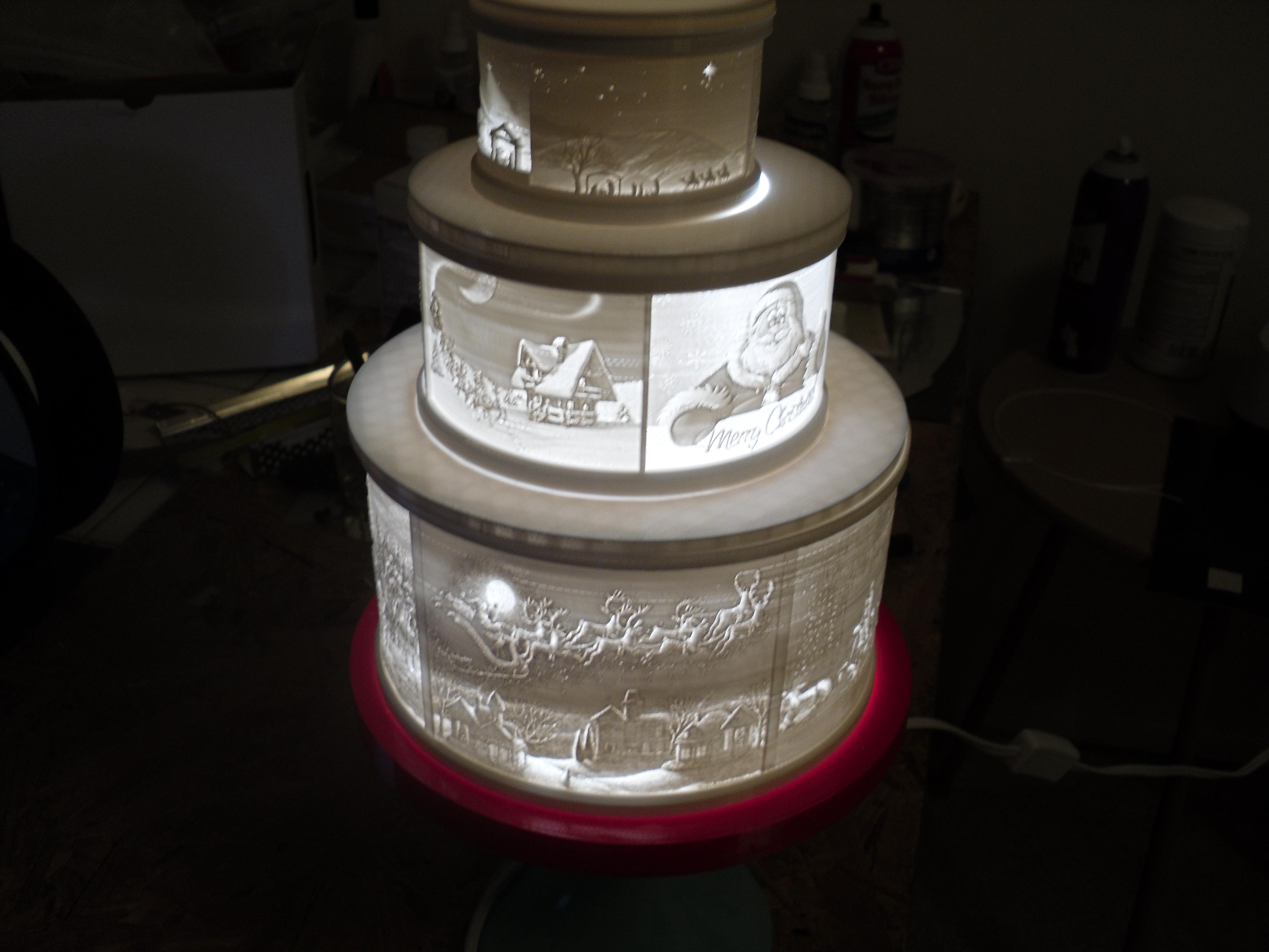 SDC10009.JPG Télécharger fichier STL gratuit Gâteau de Noël au lithophane • Objet pour imprimante 3D, liggett1