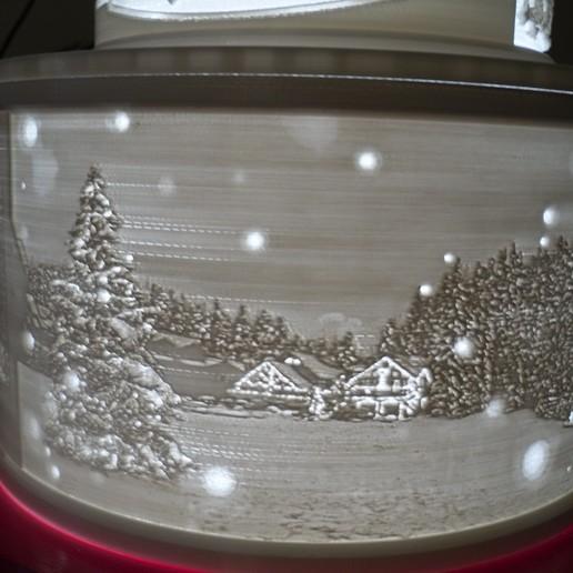 SDC10008.JPG Télécharger fichier STL gratuit Gâteau de Noël au lithophane • Objet pour imprimante 3D, liggett1