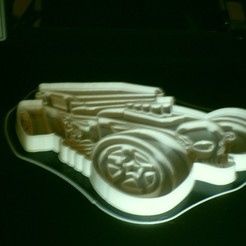 Download STL file Hot wheel car cookie cutter • 3D printing design, liggett1