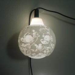 SDC10001.JPG Download STL file Garfield Christmas lithophane bulb  • 3D printing object, liggett1