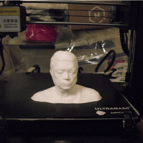 Download free STL file Self bust made with kinect v2 • 3D printing object, liggett1