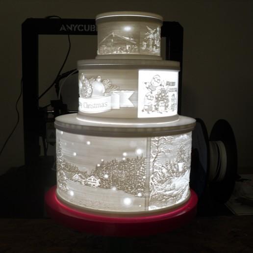 SDC10003.JPG Télécharger fichier STL gratuit Gâteau de Noël au lithophane • Objet pour imprimante 3D, liggett1