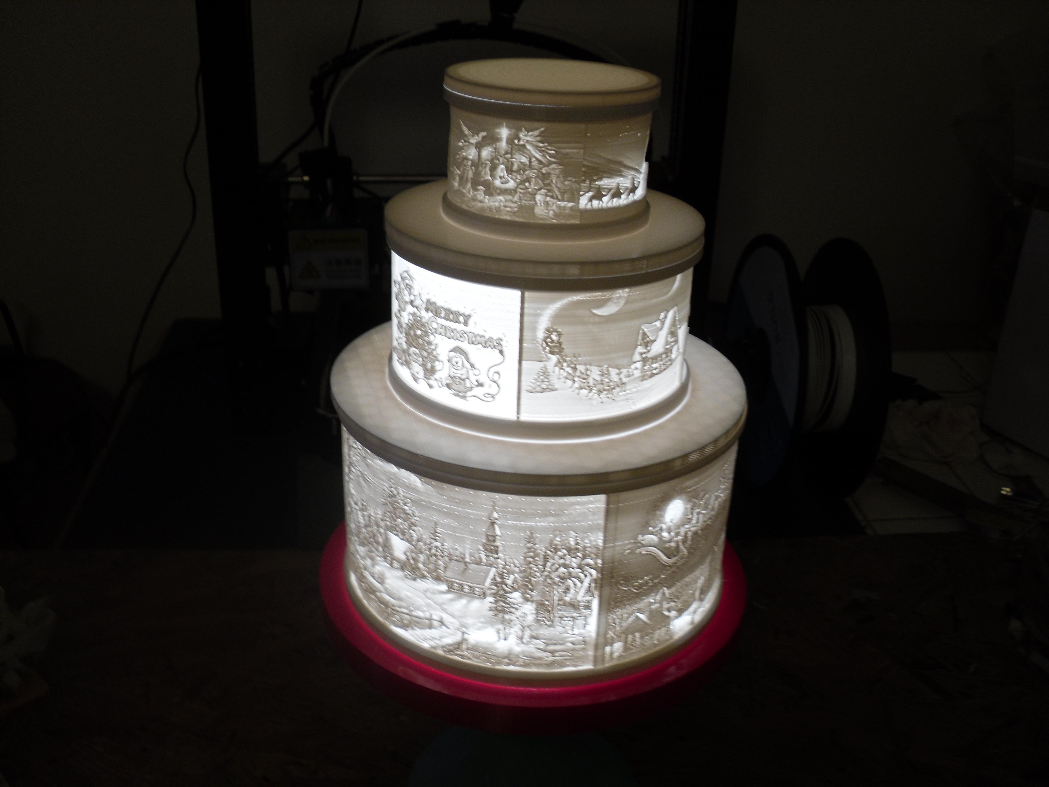 SDC10001.JPG Télécharger fichier STL gratuit Gâteau de Noël au lithophane • Objet pour imprimante 3D, liggett1