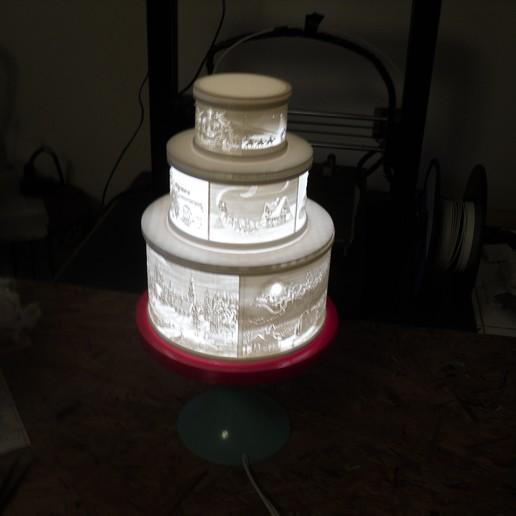 SDC10002.JPG Télécharger fichier STL gratuit Gâteau de Noël au lithophane • Objet pour imprimante 3D, liggett1