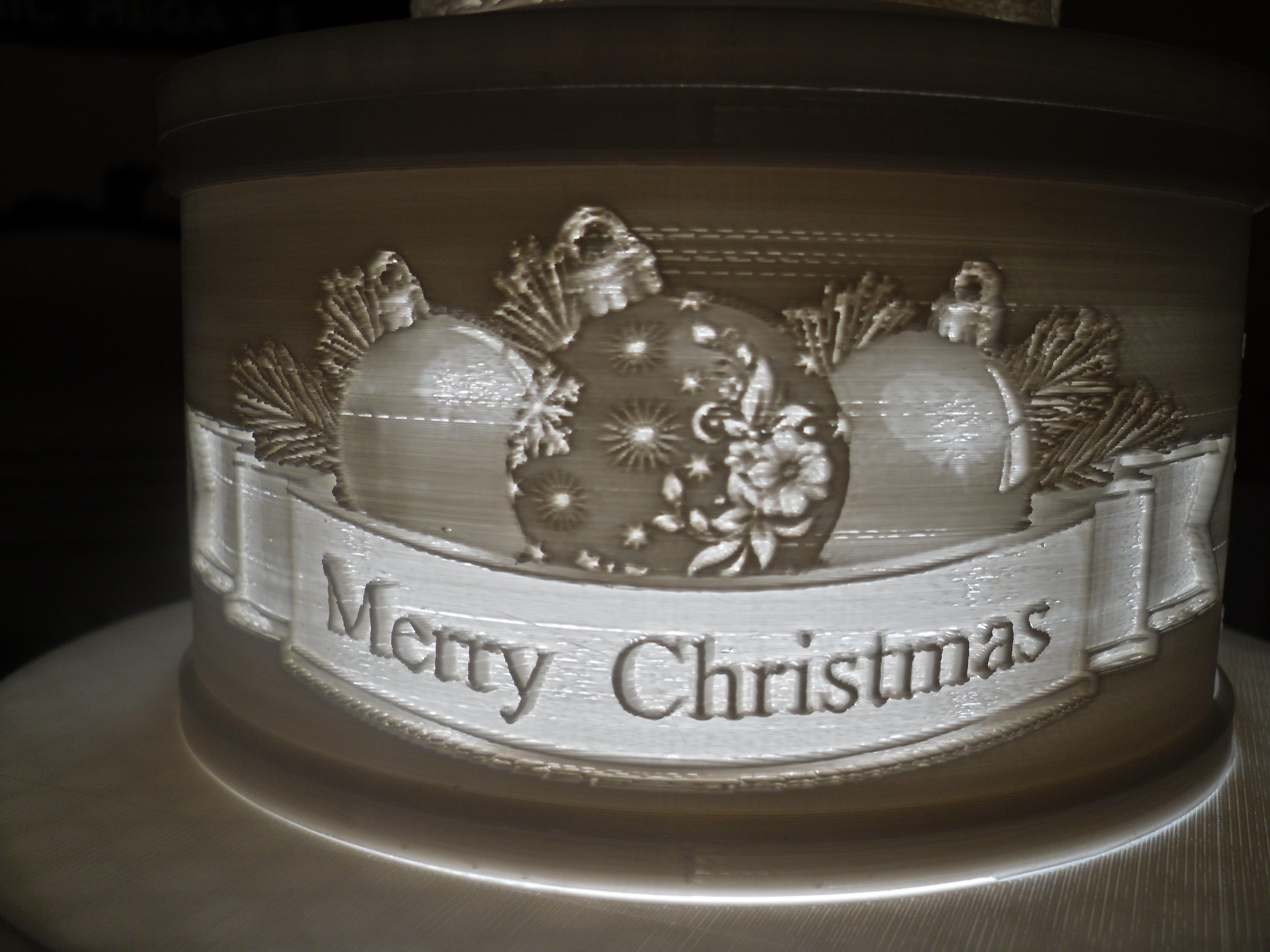 SDC10007.JPG Télécharger fichier STL gratuit Gâteau de Noël au lithophane • Objet pour imprimante 3D, liggett1