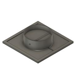 Vent1.png Télécharger fichier STL gratuit Valve de ventilation + grille • Objet imprimable en 3D, Skyworker