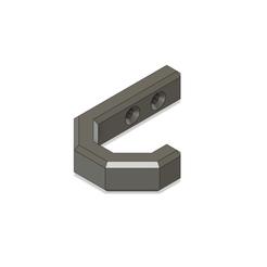 Hook1.png Download free STL file Plain wall hook • Design to 3D print, Skyworker