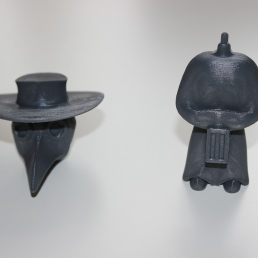 IMG_6689.JPG Download STL file Plague Doctor Bobble Head • 3D printable template, Skyworker