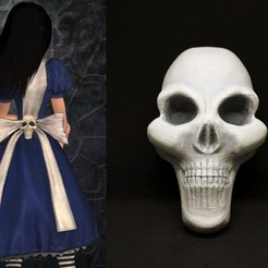 Download STL files Alice Madness Returns cosplay - skull , GeekOn