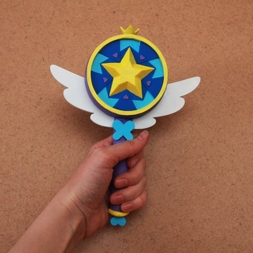 Download STL file Star vs the Forces of Evil inspired wand Season 1, GeekOn