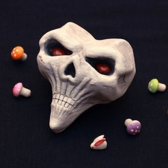 3D print model Alice Madness Returns inspired - skull for coslpay of Alice Lidell, GeekOn