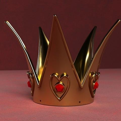 Modelos 3D para imprimir Corona Reina de Corazones, GeekOn