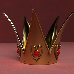 Download 3D printer designs Queen of Hearts Crown, GeekOn