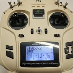 Descargar STL gratis Transmisor de control remoto JUMPER T12_Box para baterías de Li-Ion 18650, turboshnurbo