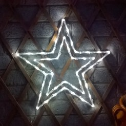 Download free STL LED Outdoor Christmas Star Decoration, crzldesign