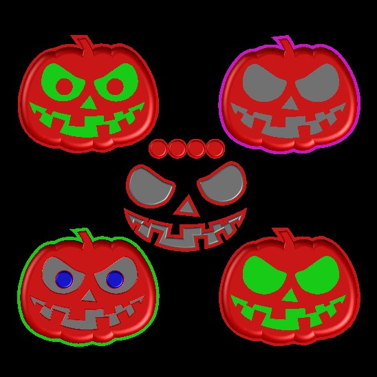 Pumpkin-1-Mod.jpg Download free STL file Scary Halloween Pumpkin Molds • 3D printable design, crzldesign