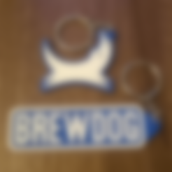 Free STL 2 x Brewdog Keyrings / Keyfobs / Bag Charms, crzldesign