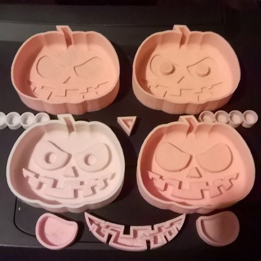 Pump-M1.jpg Download free STL file Scary Halloween Pumpkin Molds • 3D printable design, crzldesign