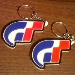 turismo.jpg Download free STL file Gran Turismo Keyring - Playstation Video Game Keychain • Template to 3D print, crzldesign