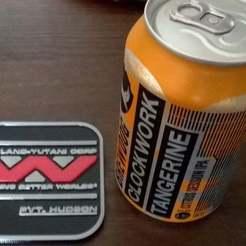 Coaster2.jpg Télécharger fichier STL gratuit Aliens Colonial Marines Boissons Dessous de verre / Tapis à bière • Objet à imprimer en 3D, crzldesign