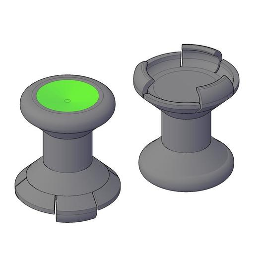 Download free STL file GIOTECK WX-4 THUMBSTICK EXTENDER - AIMING ENHANCER • 3D printing object, crzldesign