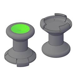 Extender-1-Model.jpg Download free STL file GIOTECK WX-4 THUMBSTICK EXTENDER - AIMING ENHANCER • 3D printing object, crzldesign