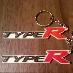 Type-R-4.jpg Download free STL file Honda Civic Type-R Keyring - Car Keychain / Bag Charm • 3D print design, crzldesign