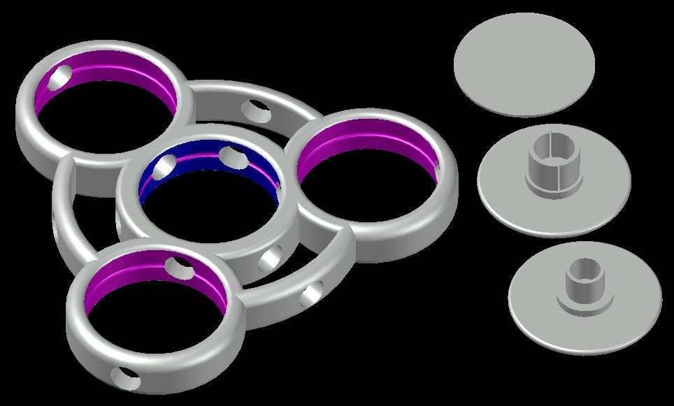 Spinner-B.jpg Download free STL file Fidget Spinner for Smaller Hands - Spinner B • 3D printer model, crzldesign