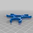 Download free STL file Fidget Spinner with Bearing Covers • Model to 3D print, crzldesign