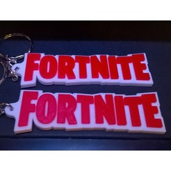 Fort.jpg Download free STL file Fortnite Keyring - Chunky Style • 3D print model, crzldesign